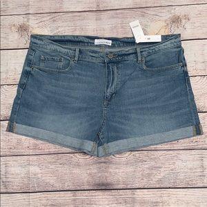 LOFT Cuffed Hem Jean Shorts